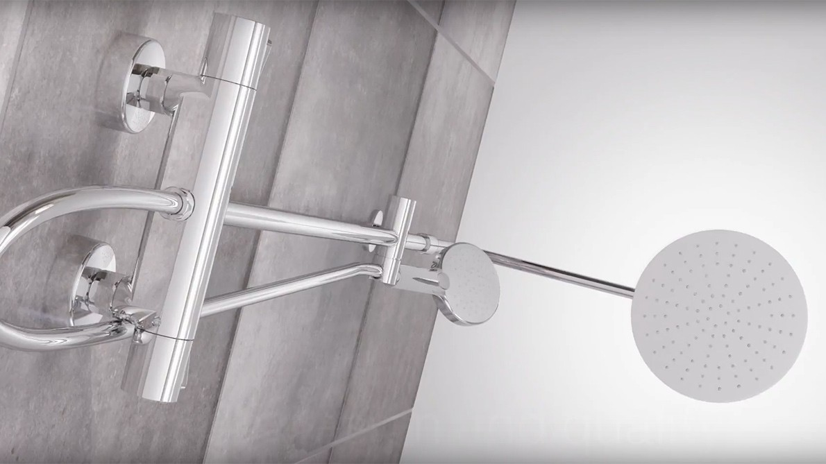 Damixa Silhouet Chrome Shower System video