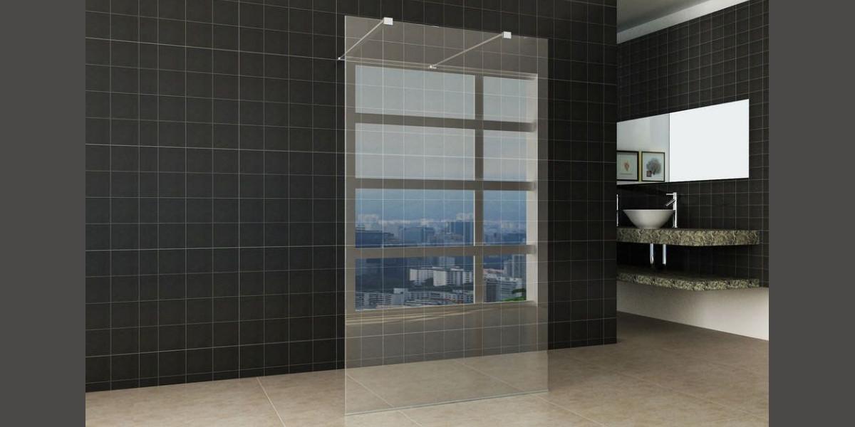 Freestanding walk-in shower