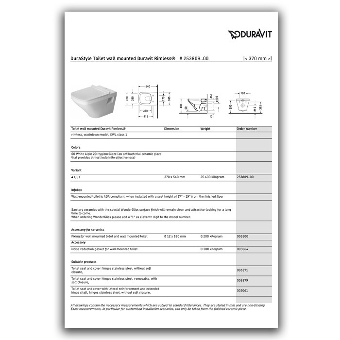 Product sheet