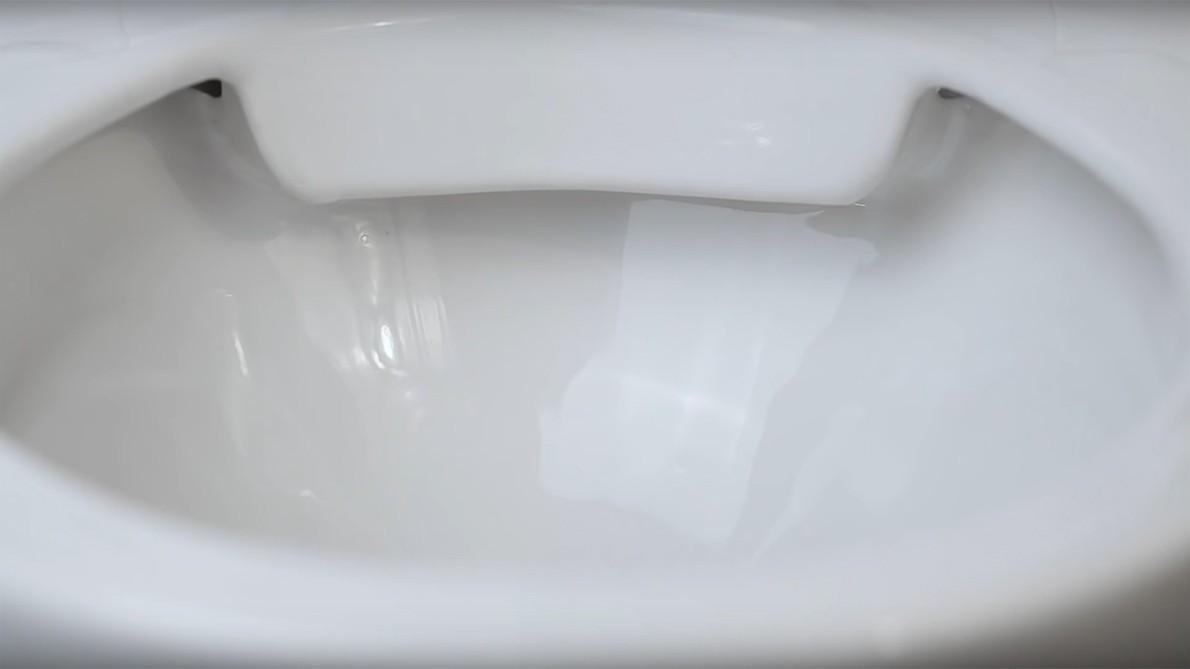 "The new ""rimflush"" flushing system."