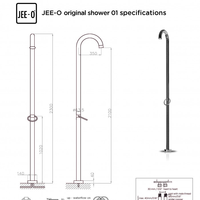 JEE-O original 01 shower specifications