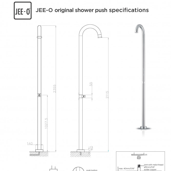 JEE-O original shower push specification