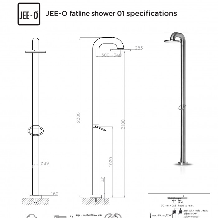 JEE-O fatline shower 01 specifications