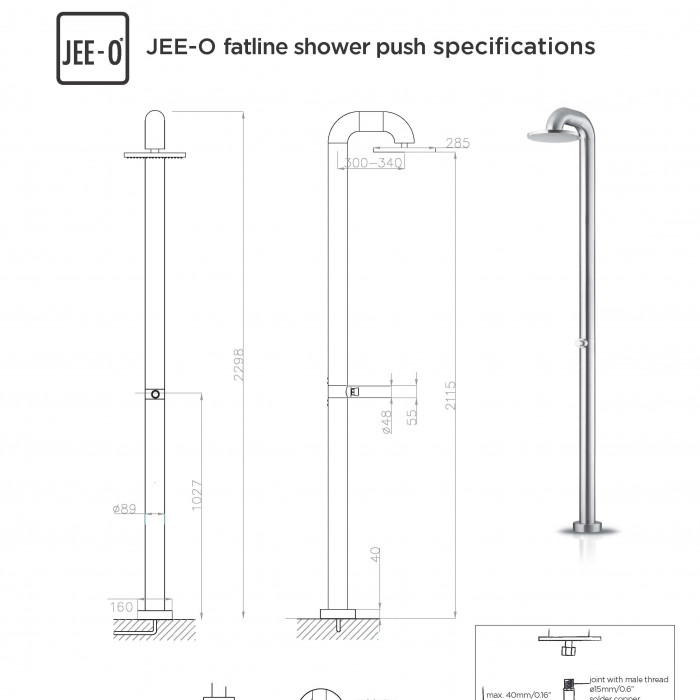 JEE-O fatline shower push specification