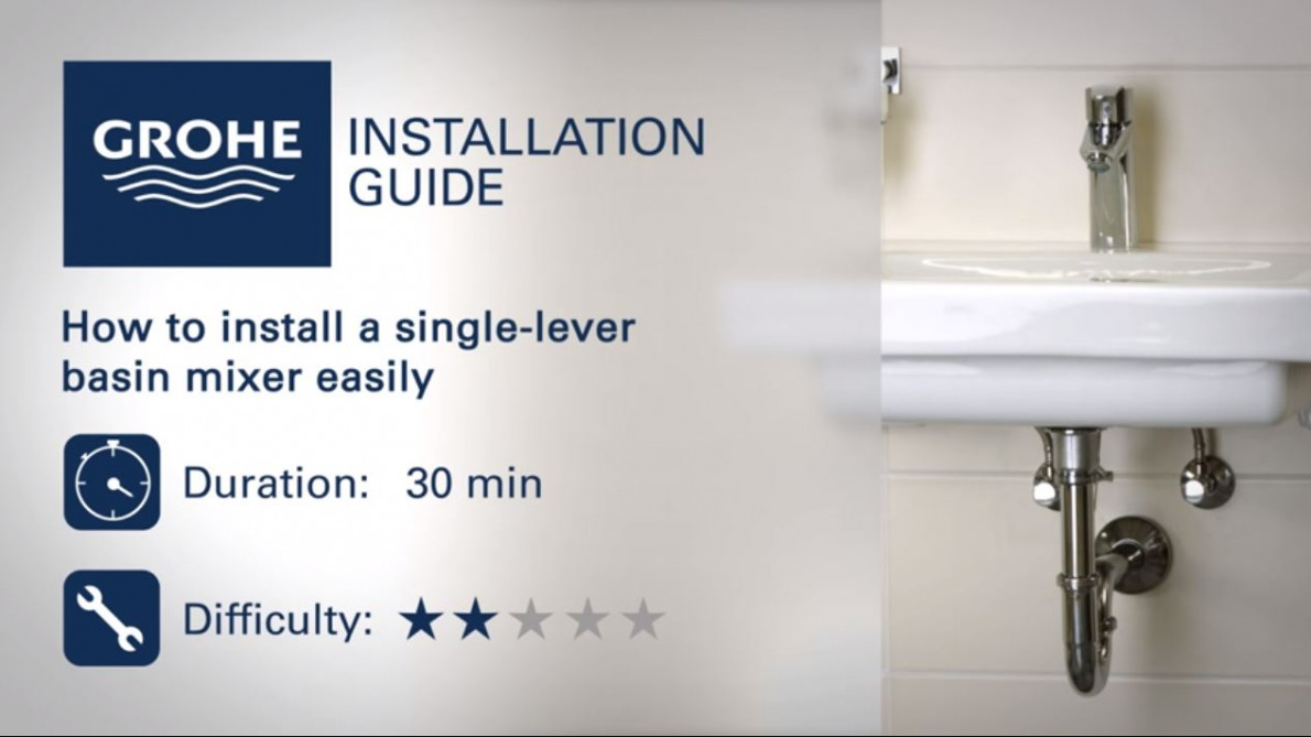 How to install a GROHE single-lever basin mixer