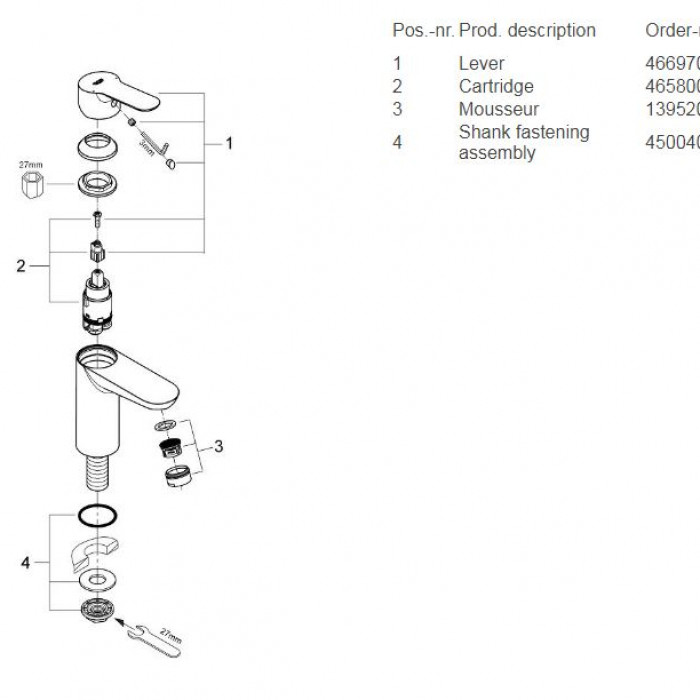 Spare parts/ Exploded drawing