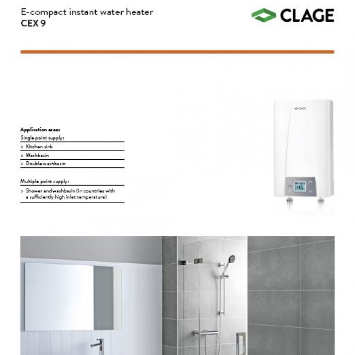 CEX9 Product information sheet