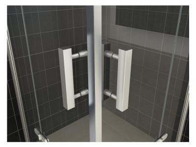 Corner shower cabin with revolving doors - Corner Shower Cabin With Revolving Doors | Bathroom Design Curacao