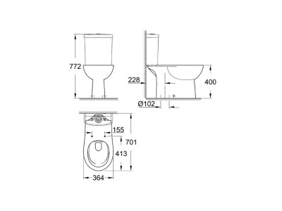 GROHE Bau Floorstanding Toilet - GROHE Bau Floorstanding Toilet | Bathroom Design Curacao