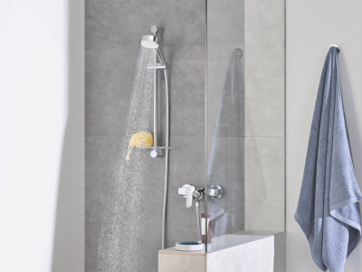 Grohe Tempesta Cosmopolitan 100 Shower Rail Set 3 Sprays - Grohe Tempesta Cosmopolitan 100 Shower Rail Set 4 Sprays | Bathroom Design Curacao