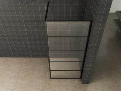 Horizon walk-in shower with black frame - Horizon walk-in shower | Bathroom Design Curacao