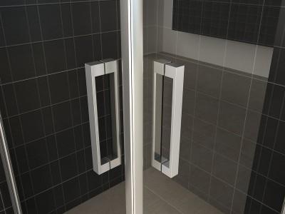 Corner shower cabin with revolving doors - 20.3846-1