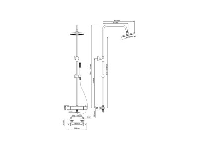 Caral Shower System Matt Black - Bathroom Design Curacao | Caral matt black shower system