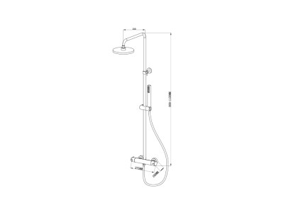 Caral Basic Shower System - Bathroom Design Curacao | Caral Basic Shower System