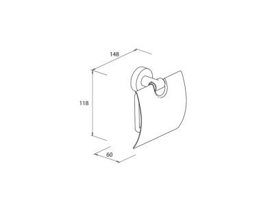 Toilet Roll Holder c/w Flap - 550d74-16c5c9811c