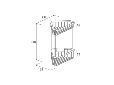 Corner Shower Basket 2 tier - 5e70f1dcbe74cde-b