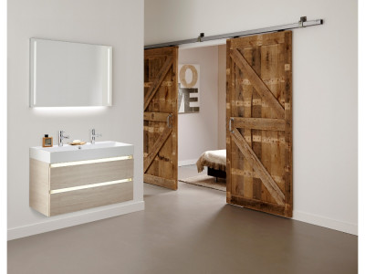 Coast - Bathroom Design Curacao | Coast | Width: 100 cm | Color: M76 Elm White | Type: B