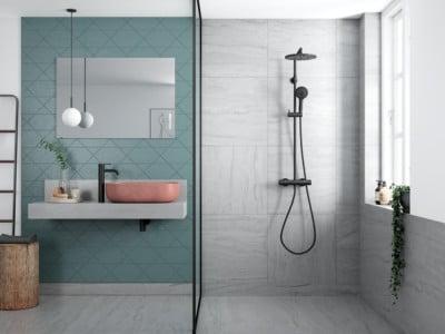 Black Friday 2020 Promotion - Bathroom Design Curacao | Silhouet shower system | Matt Black