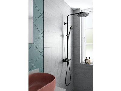 Damixa Silhouet Shower System - Bathroom Design Curacao | Silhouet shower system | Matt Black