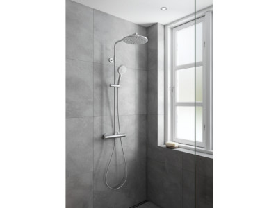 Damixa Silhouet Shower System - Bathroom Design Curacao | Silhouet shower system | Steel PVD