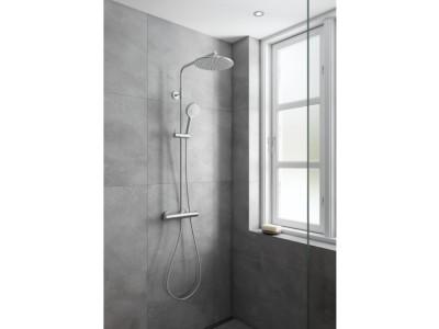 Damixa Silhouet Shower System - Bathroom Design Curacao   Silhouet shower system   Steel PVD