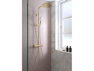 Damixa Silhouet Shower System - Bathroom Design Curacao | Silhouet shower system | Gold PVD