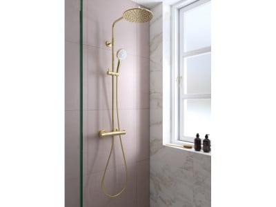 Damixa Silhouet Shower System - Bathroom Design Curacao   Silhouet shower system   Gold PVD